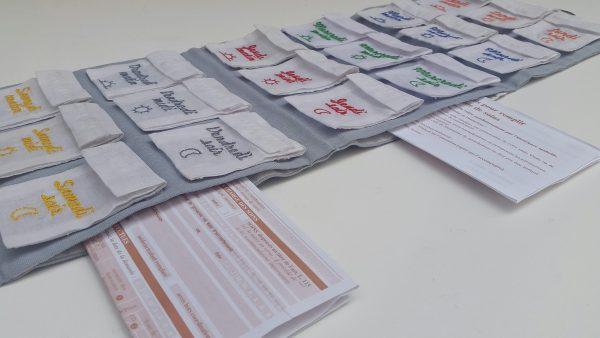Pilulier Pilleasy Organdi 2 poches latérales pour ranger les ordonnances à renouveler et le carnet de santé.