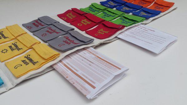 Pilulier Pilleasy Tonique 2 poches latérales grande contenance pour ranger les ordonnances à renouveler et le carnet de santé.