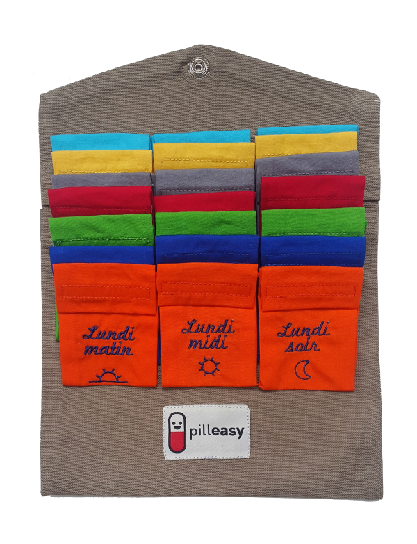 Le Kit Semaine Tonique du Pilulier Pilleasy Tonique contient 21 pochettes doses.