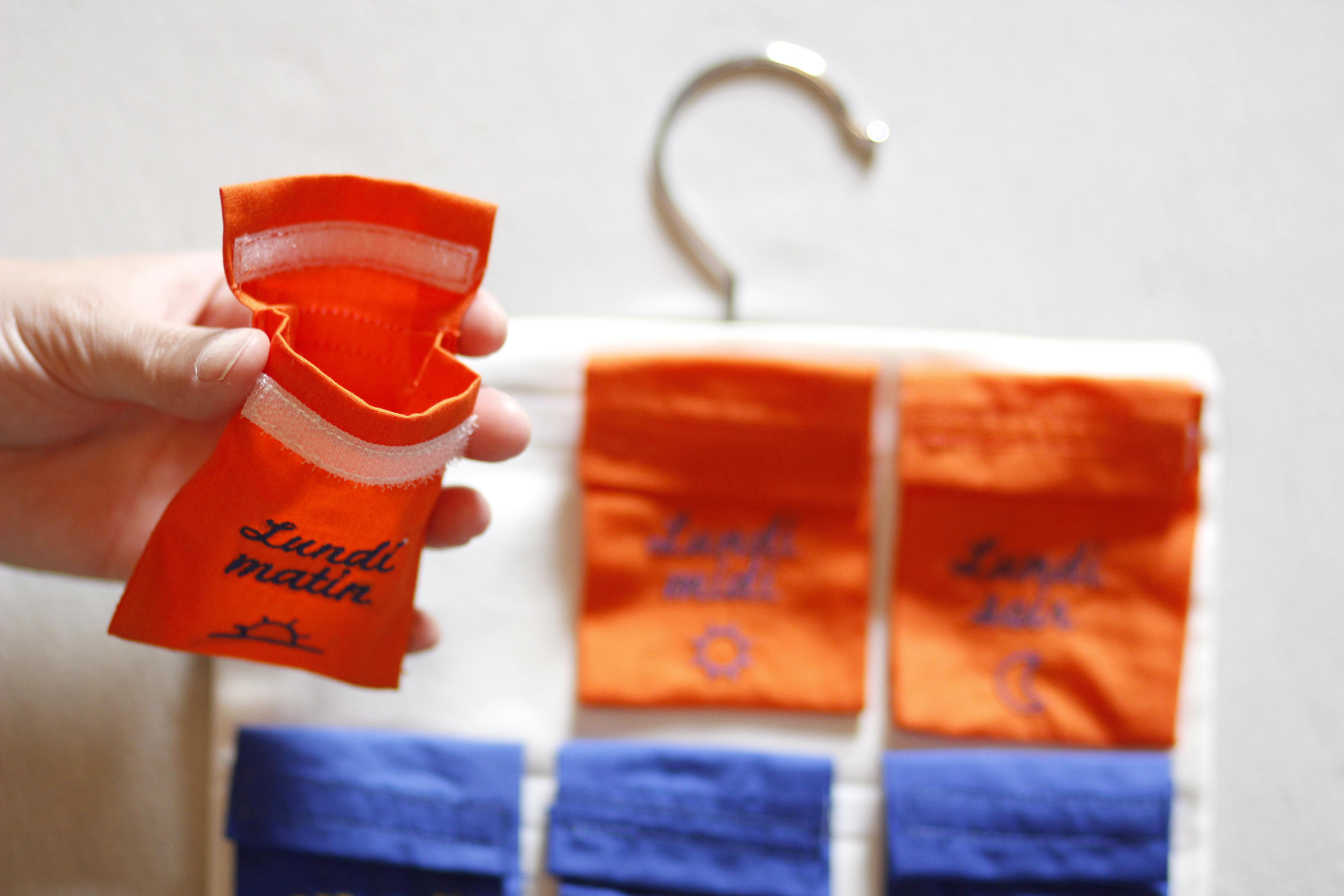 Traitement médical et jeu d'enfant. Pilulier Tonique Pilleasy Pochettes doses grande contenance